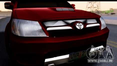 Toyota Hilux FB pour GTA San Andreas vue de droite