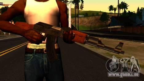 AK47 from GTA 4 für GTA San Andreas dritten Screenshot