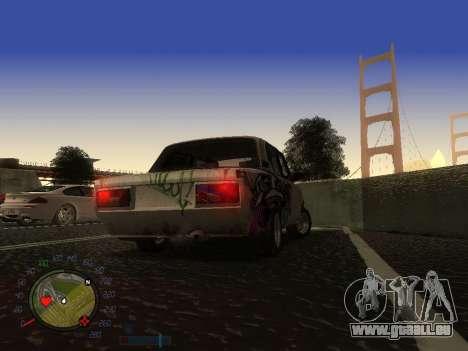 VAZ 2105 Rusty Trog für GTA San Andreas Innenansicht