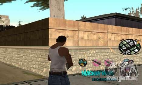 C-HUD Mickey Mouse für GTA San Andreas zweiten Screenshot