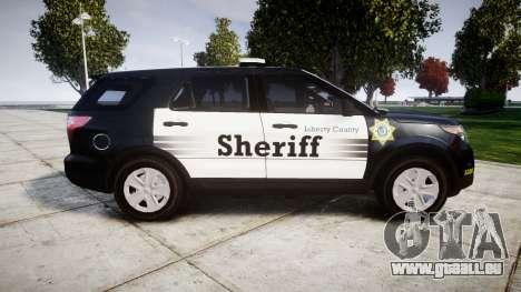 Ford Explorer 2013 County Sheriff [ELS] für GTA 4 linke Ansicht