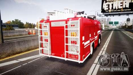 Mercedes-Benz Atego Indonesian Fire Truck [ELS] pour GTA 4 Vue arrière de la gauche