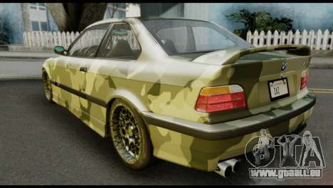 BMW M3 E36 Camo Drift pour GTA San Andreas laissé vue