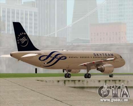 Airbus A320-200 Air France Skyteam Livery pour GTA San Andreas moteur