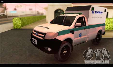 Ford Ranger 2013 Ambulancia Chubut pour GTA San Andreas