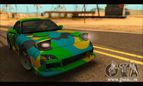 Mazda RX-7 Camo pour GTA San Andreas