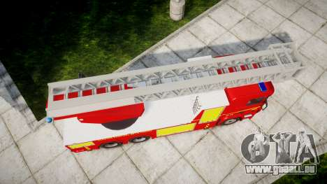 Scania R580 Paris Fireladder [ELS] pour GTA 4 est un droit