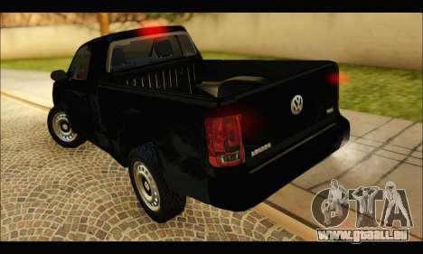 Volkswagen Amarok Cabina Simple pour GTA San Andreas sur la vue arrière gauche