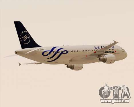 Airbus A320-200 Air France Skyteam Livery pour GTA San Andreas vue arrière