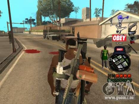 C-HUD Sweet pour GTA San Andreas quatrième écran