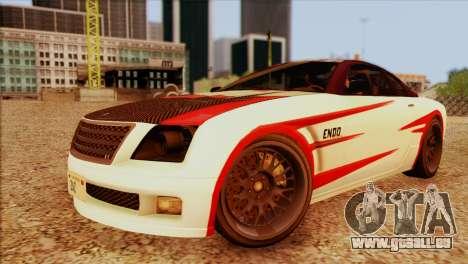 Schyster Fusilade Sport 1.0 (HQLM) pour GTA San Andreas sur la vue arrière gauche