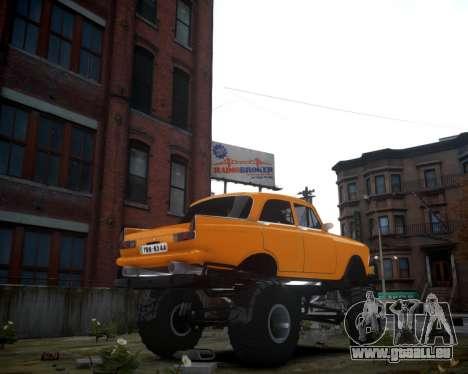 Moskwitsch 412 Monster für GTA 4 hinten links Ansicht