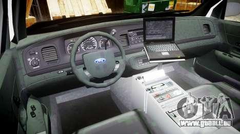 Ford Crown Victoria 2008 LCPD [ELS] für GTA 4 Rückansicht