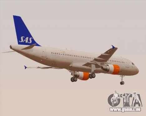 Airbus A320-200 Scandinavian Airlines - SAS für GTA San Andreas Unteransicht