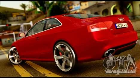 Audi RS5 2013 pour GTA San Andreas laissé vue