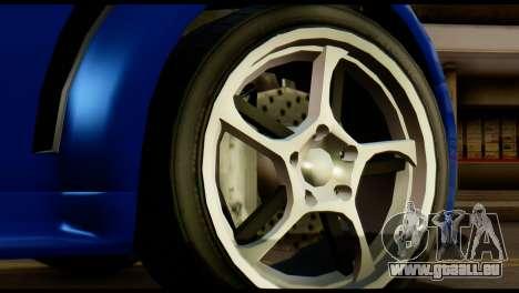 GTA 5 Dewbauchee Rapid GT Cabrio [HQLM] pour GTA San Andreas vue arrière