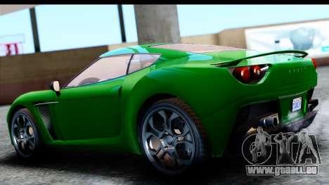 GTA 5 Grotti Carbonizzare v3 SA Mobile für GTA San Andreas linke Ansicht