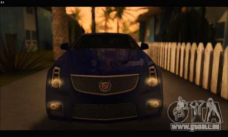 Cadillac CTS-V Coupe für GTA San Andreas Innenansicht