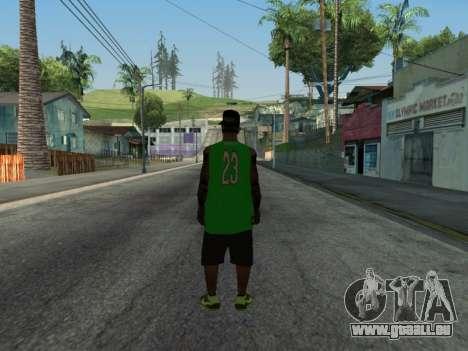 Fam3 Skin pour GTA San Andreas deuxième écran