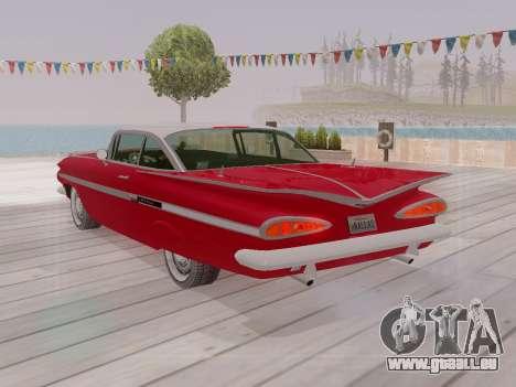 Chevrolet Impala 1959 pour GTA San Andreas salon