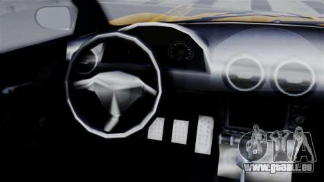 GTA 5 Dewbauchee Massacro Racecar SA Mobile für GTA San Andreas zurück linke Ansicht