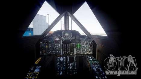 Lockheed SR-71 Blackbird für GTA 4 hinten links Ansicht
