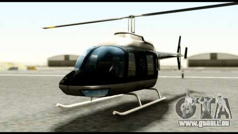 Beta Police Maverick pour GTA San Andreas vue de droite