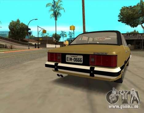 Chevrolet Opala 1980 pour GTA San Andreas sur la vue arrière gauche