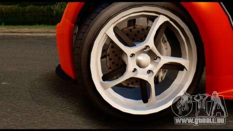 GTA 5 Dewbauchee Rapid GT Cabrio [IVF] pour GTA San Andreas sur la vue arrière gauche
