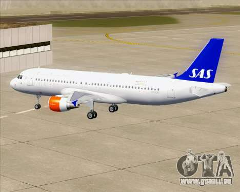 Airbus A320-200 Scandinavian Airlines - SAS für GTA San Andreas Motor