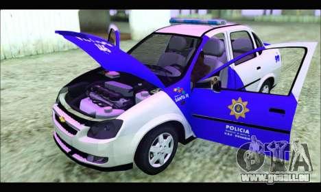 Chevrolet Corsa Classic Policia de Santa Fe pour GTA San Andreas vue de droite