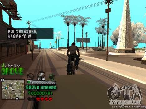 C-HUD Grove Street pour GTA San Andreas onzième écran