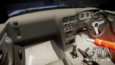 Nissan Skyline R33 GT-R für GTA 4 Rückansicht