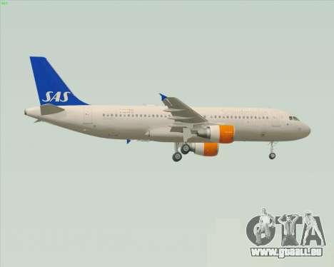 Airbus A320-200 Scandinavian Airlines - SAS für GTA San Andreas zurück linke Ansicht