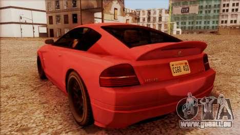 Schyster Fusilade Sport 1.0 (HQLM) pour GTA San Andreas laissé vue