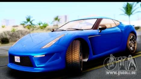 GTA 5 Grotti Carbonizzare v3 für GTA San Andreas zurück linke Ansicht