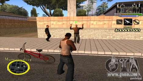 C-HUD für die Regierung für GTA San Andreas dritten Screenshot