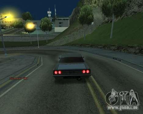 Car Speed pour GTA San Andreas troisième écran