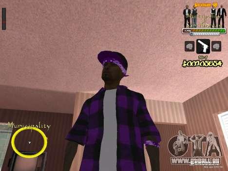 C-HUD pour le Gouvernement pour GTA San Andreas deuxième écran