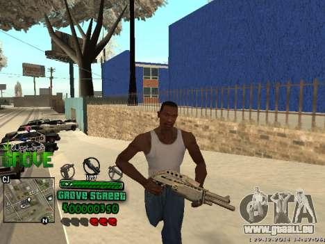 C-HUD Grove Street pour GTA San Andreas deuxième écran
