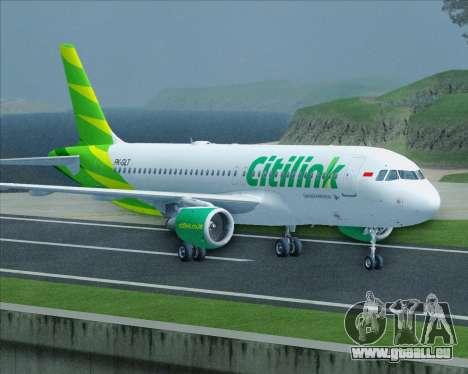 Airbus A320-200 Citilink pour GTA San Andreas vue de côté