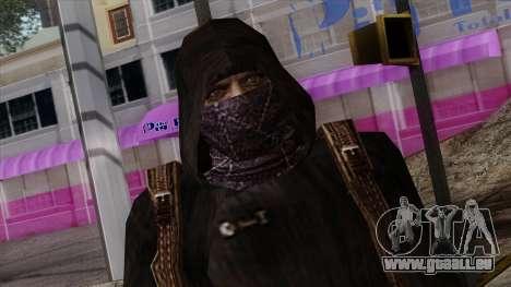 Resident Evil Skin 8 pour GTA San Andreas troisième écran
