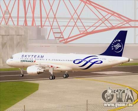 Airbus A320-200 Air France Skyteam Livery pour GTA San Andreas vue intérieure