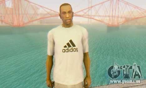 Adidas Shirt White pour GTA San Andreas