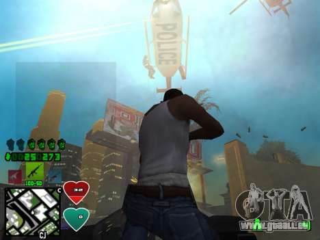C-HUD Classic v4.1 pour GTA San Andreas troisième écran