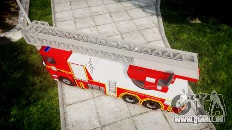 Scania R580 Marseille Fireladder [ELS] für GTA 4 rechte Ansicht