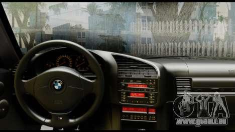 BMW M3 E36 Camo Drift pour GTA San Andreas sur la vue arrière gauche