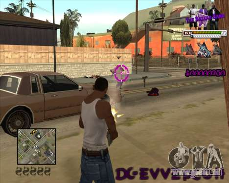 C-HUD for Ballas für GTA San Andreas zweiten Screenshot