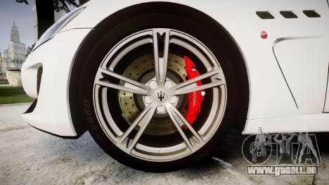 Maserati GranTurismo MC Stradale pour GTA 4 Vue arrière
