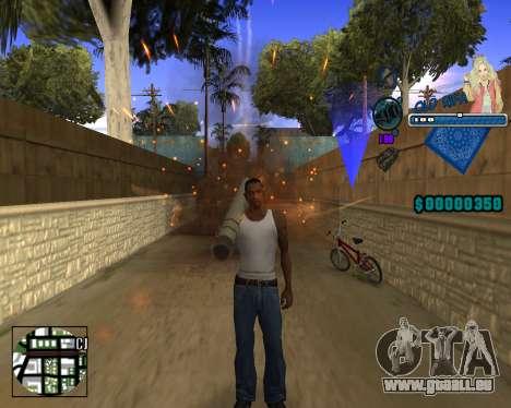 C-HUD Old Rifa pour GTA San Andreas deuxième écran